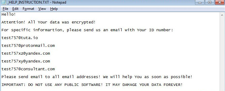 TestCryptoMix Ransomware