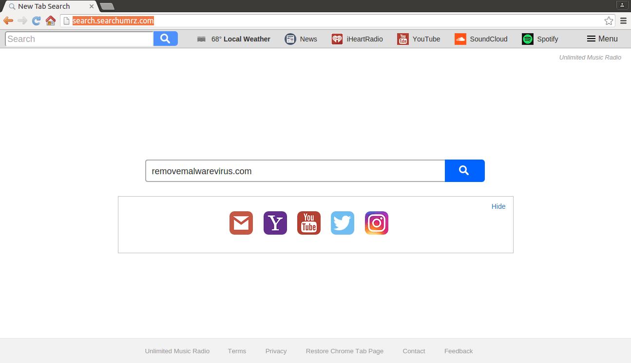 deinstallieren Sie Search.searchumrz.com