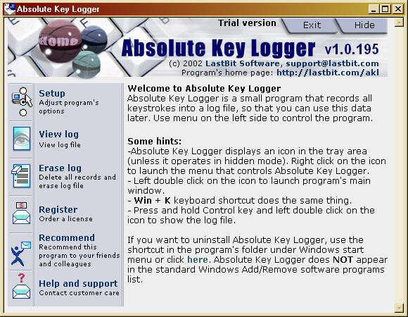 Delete Absolute Keylogger