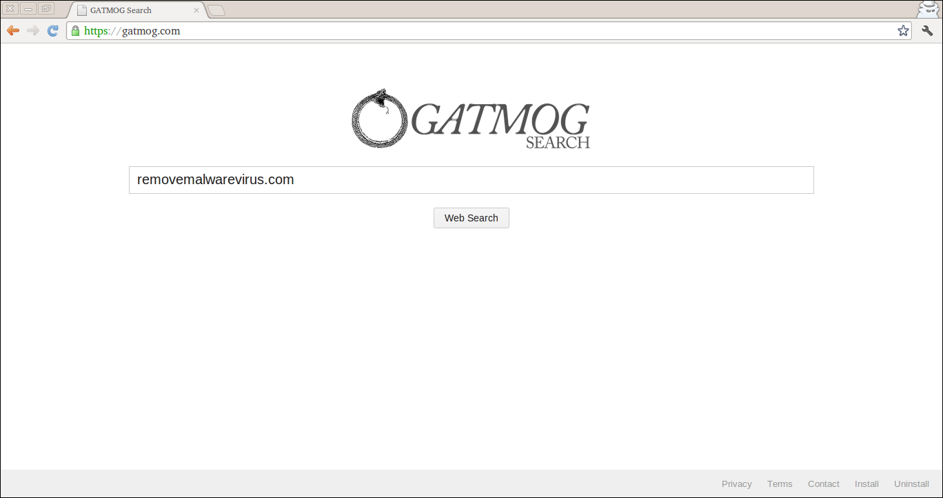 Delete Gatmog Search Extension