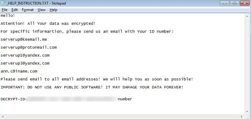 remove SERVER Cryptomix Ransomware