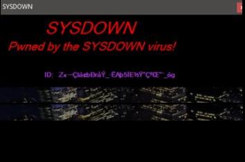 SYSDOWN Ransomware