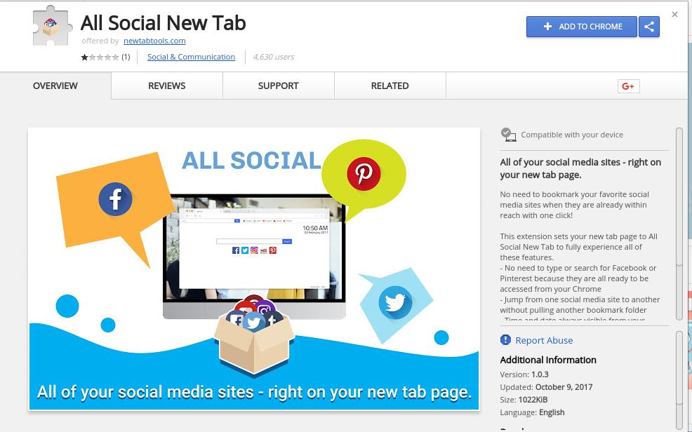 remove All Social New Tab