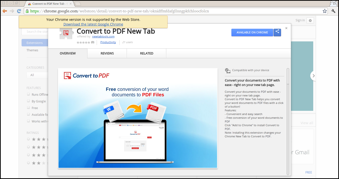 Delete Convert to PDF New Tab