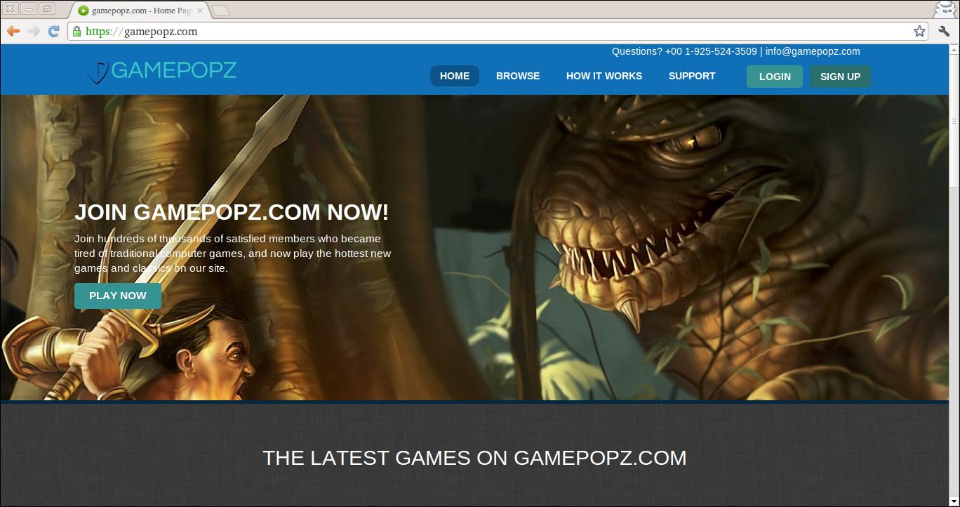 Eliminar Gamepopz.com