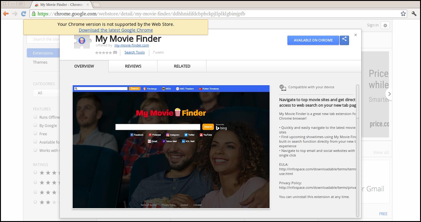 Elimina My Movie Finder