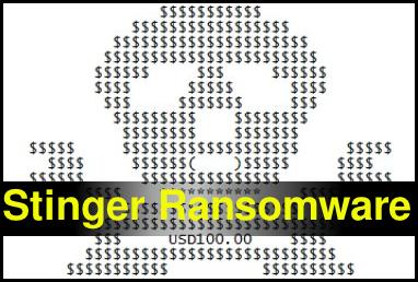Löschen Sie Stinger Ransomware
