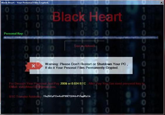BlackHeart ransomware
