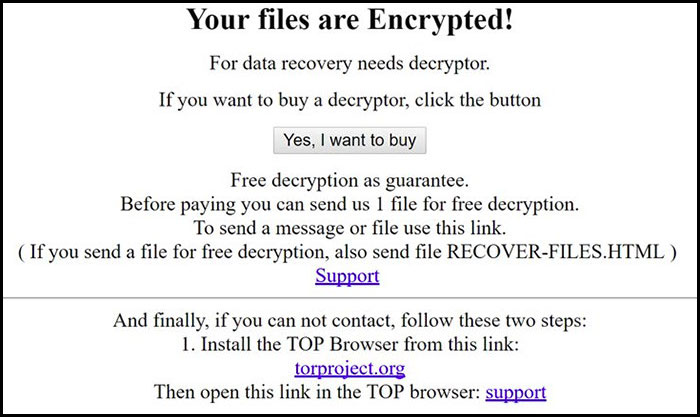 Ransom Note of Assembly Ransomware