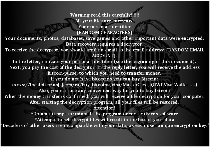 Ransom Note of Scarab-Crypto Ransomware
