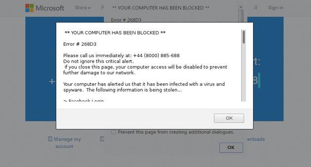 COMPUTER BLOCKED Pop-up