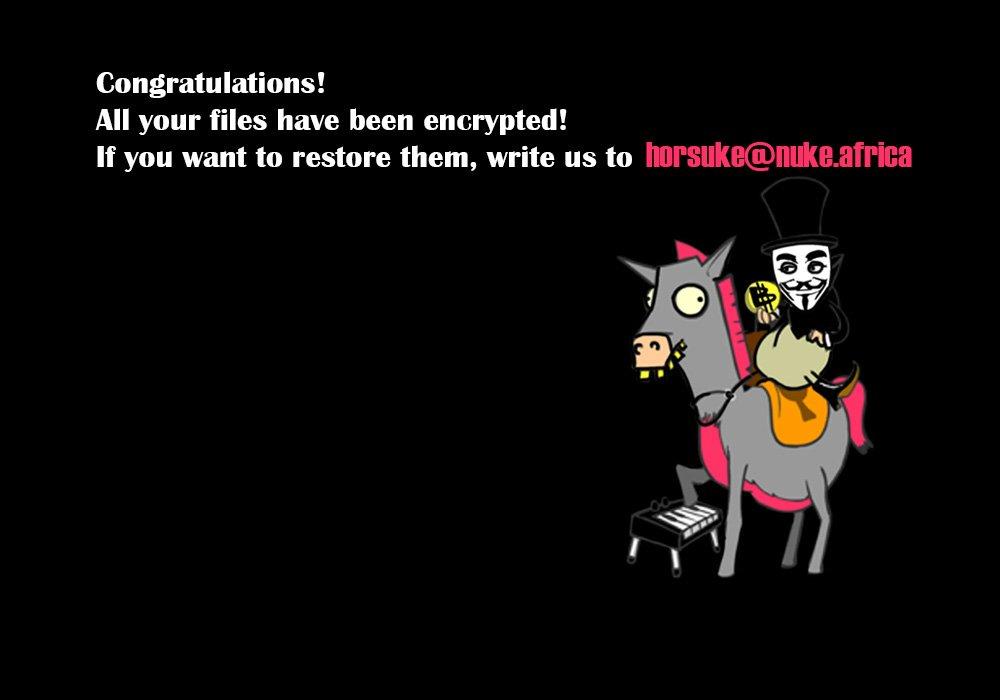 Löschen Sie Horsuke Ransomware