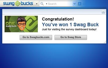 Eliminar la barra de herramientas de Swagbucks