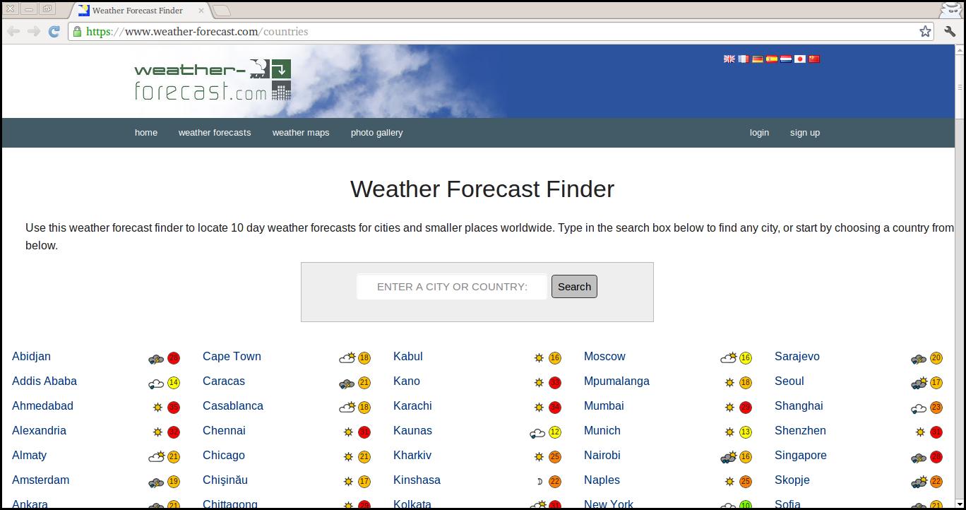 Delete Weather Forecast Finder