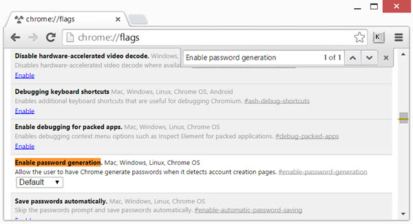 Tips To Enable and Use Password Generator in Google Chrome