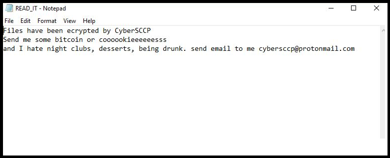 CyberSCCP Crypto Ransomware