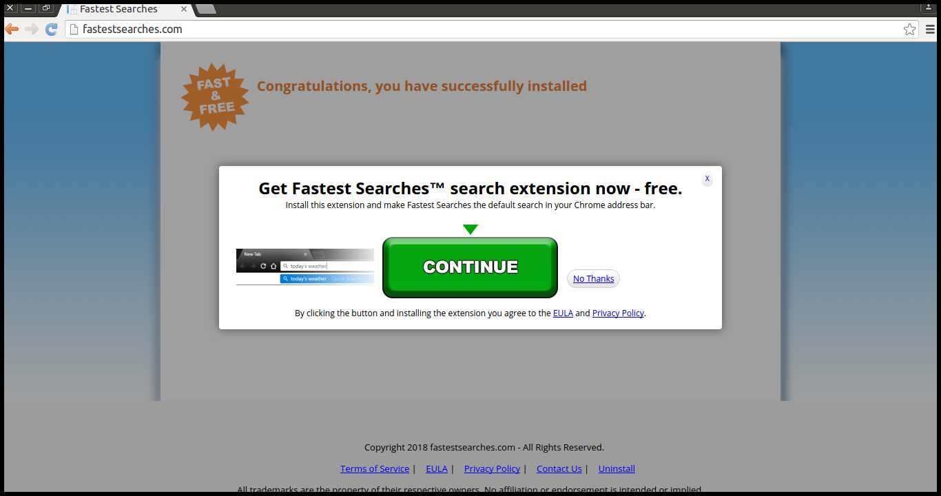 Delete Fastest Searches Extension