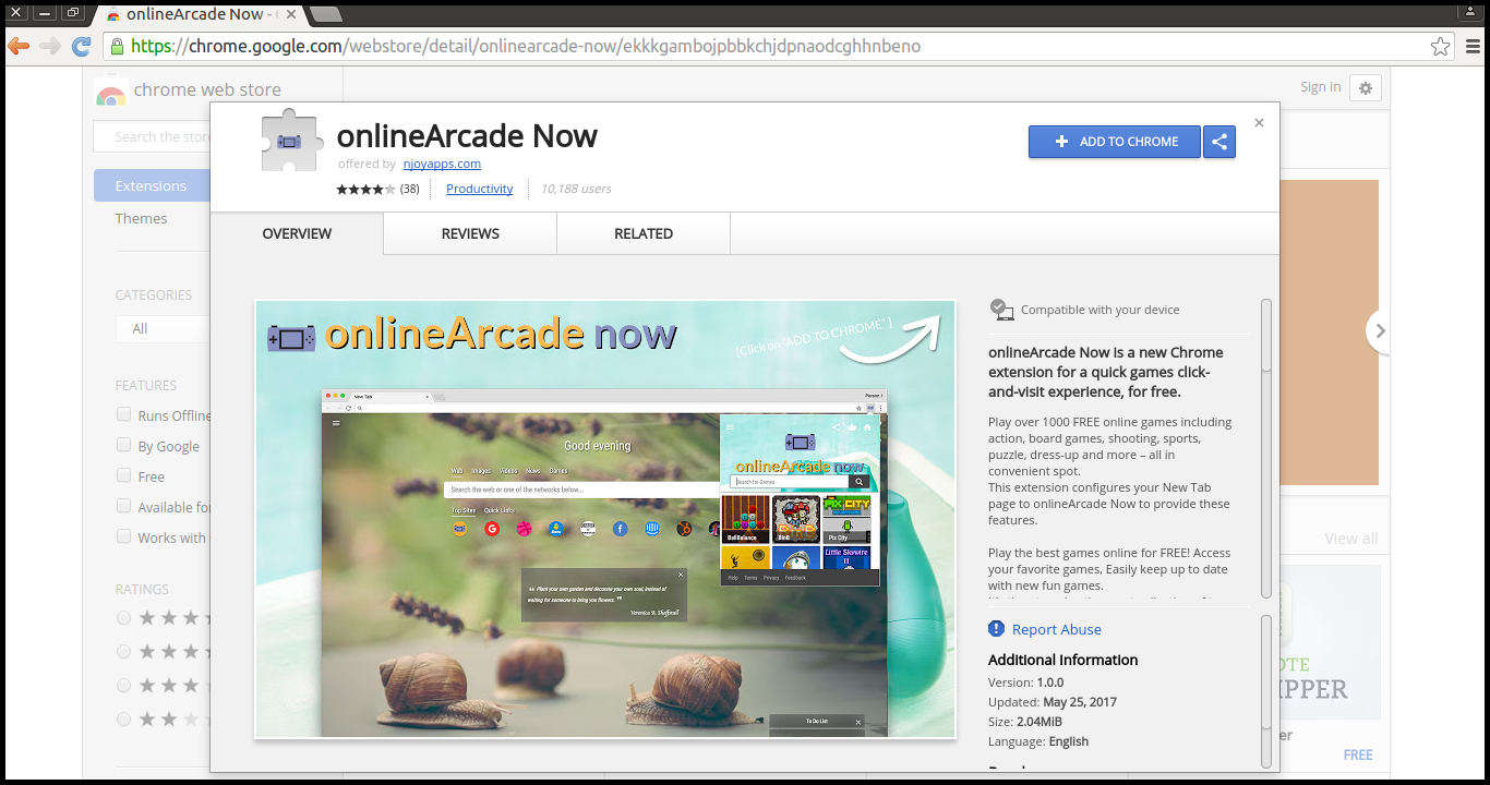 Delete onlineArcade Search
