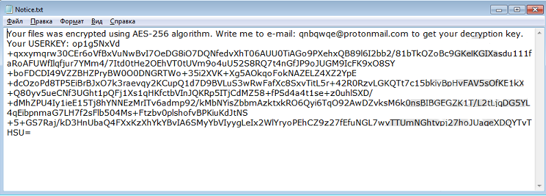 Ransom Note of Qnbqw Ransomware