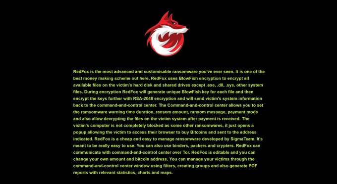 RedFox ransomware