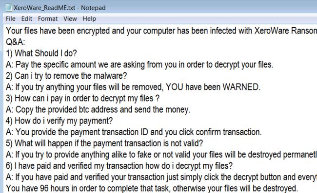 .XERO files virus