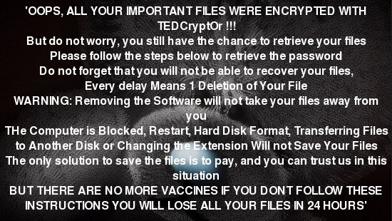Ransom Note of Tedcrypt Ransomware