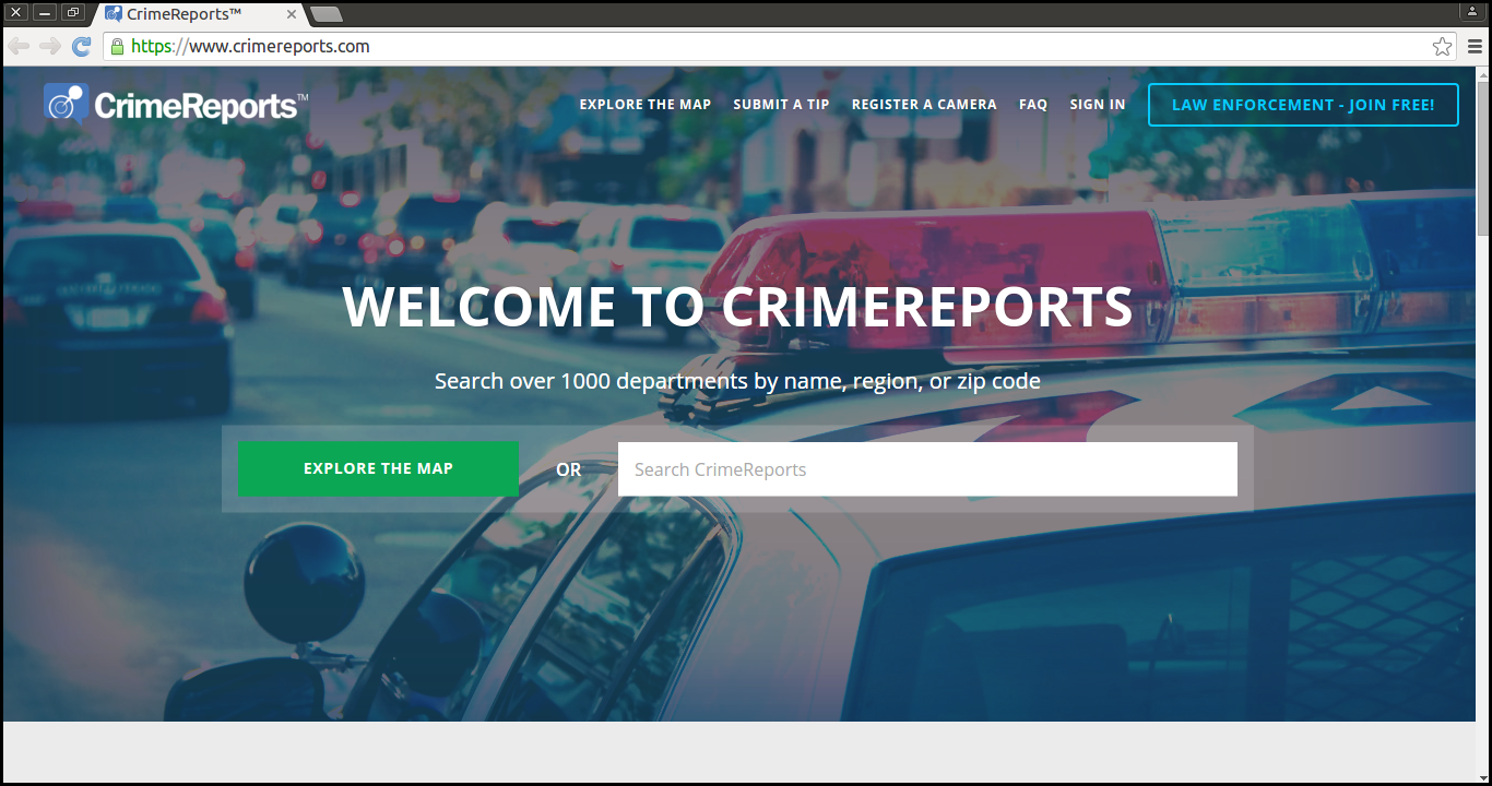 Delete Crime Report New Tab
