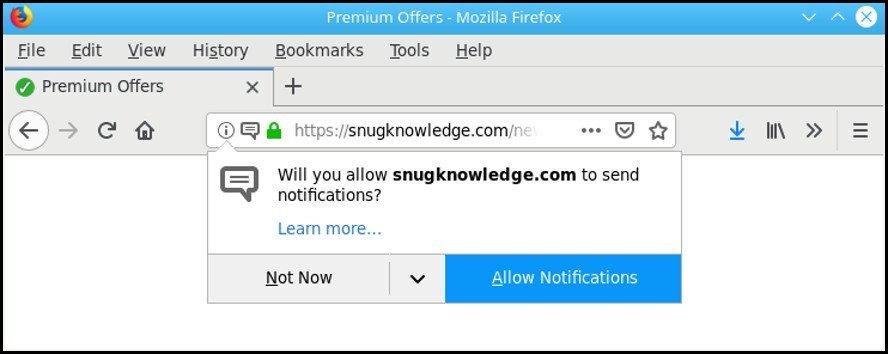 Elimina pop-up Snugknowledge.com
