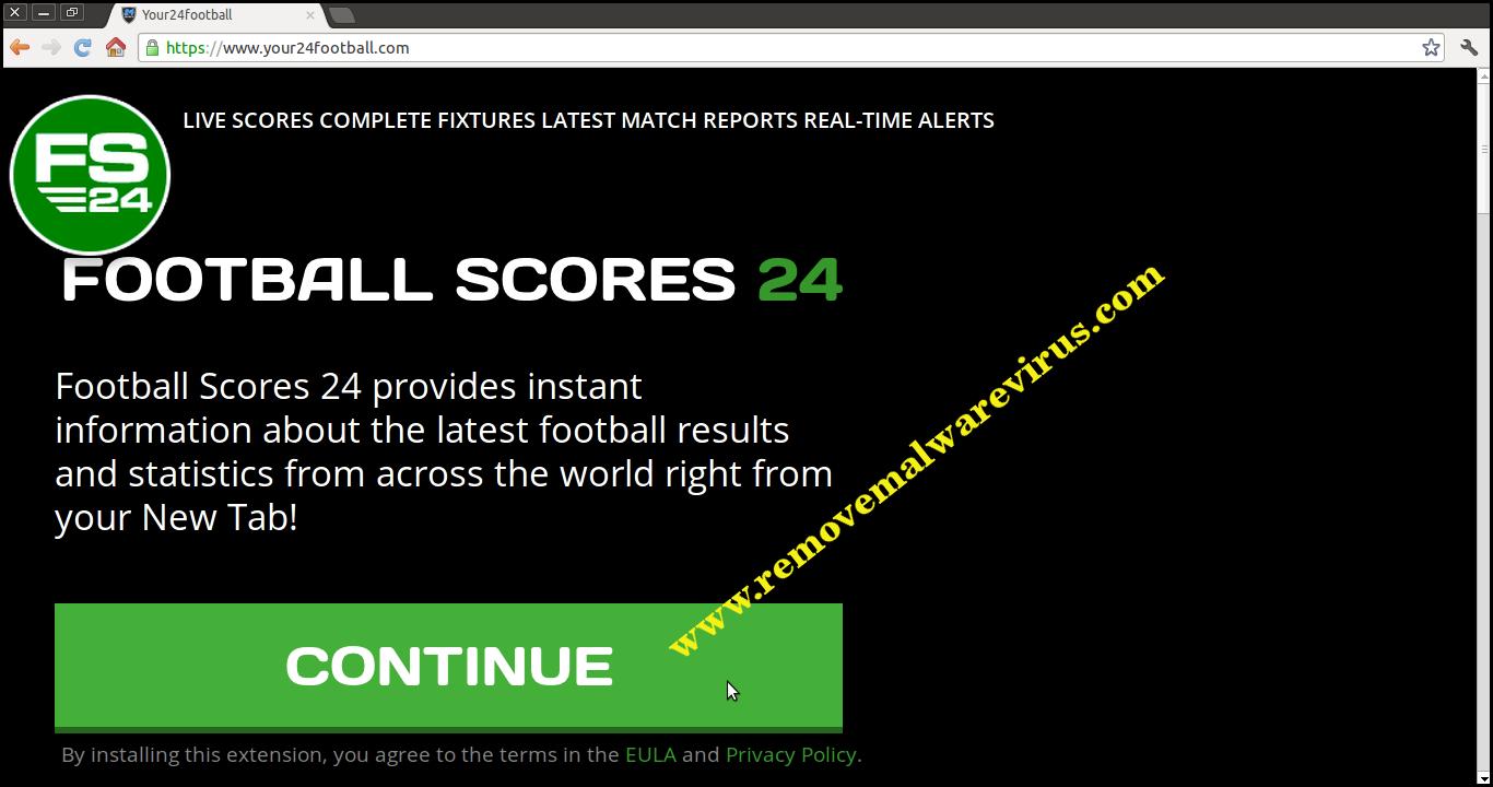 Eliminar FootbalScores24