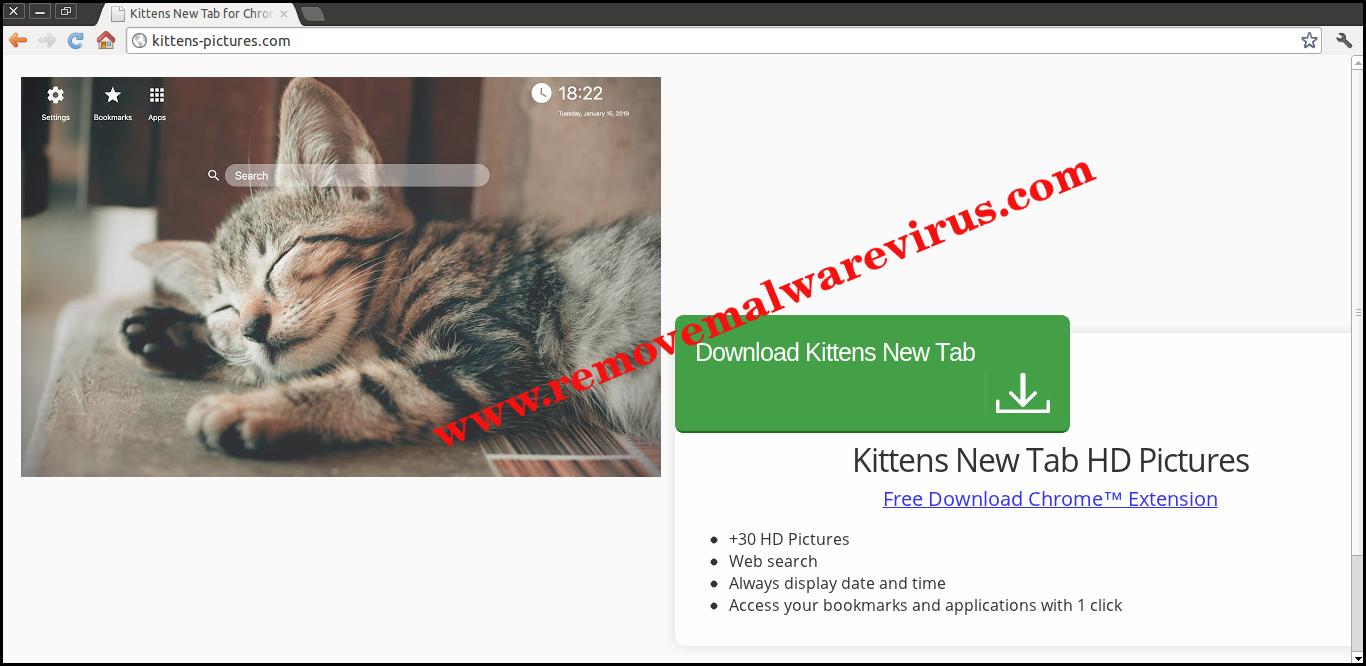 Elimina la nuova scheda di Kittens
