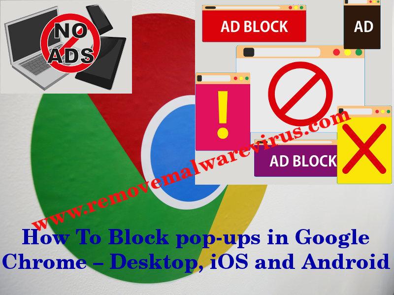 Block Pop-ups In Google Chrome