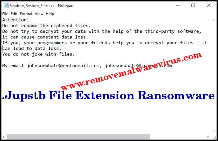 Okup okupacyjny .Jupstb File Extension Ransomware