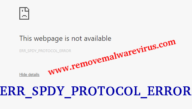 Eliminar ERR_SPDY_PROTOCOL_ERROR