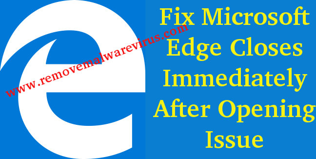 Fix Microsoft Edge Closes Immediately after opening