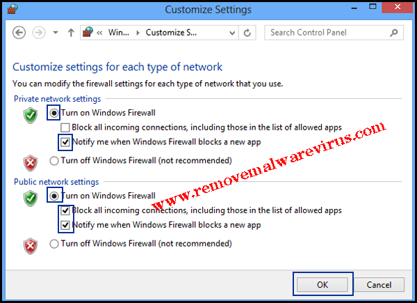 Turn Windows Firewall On