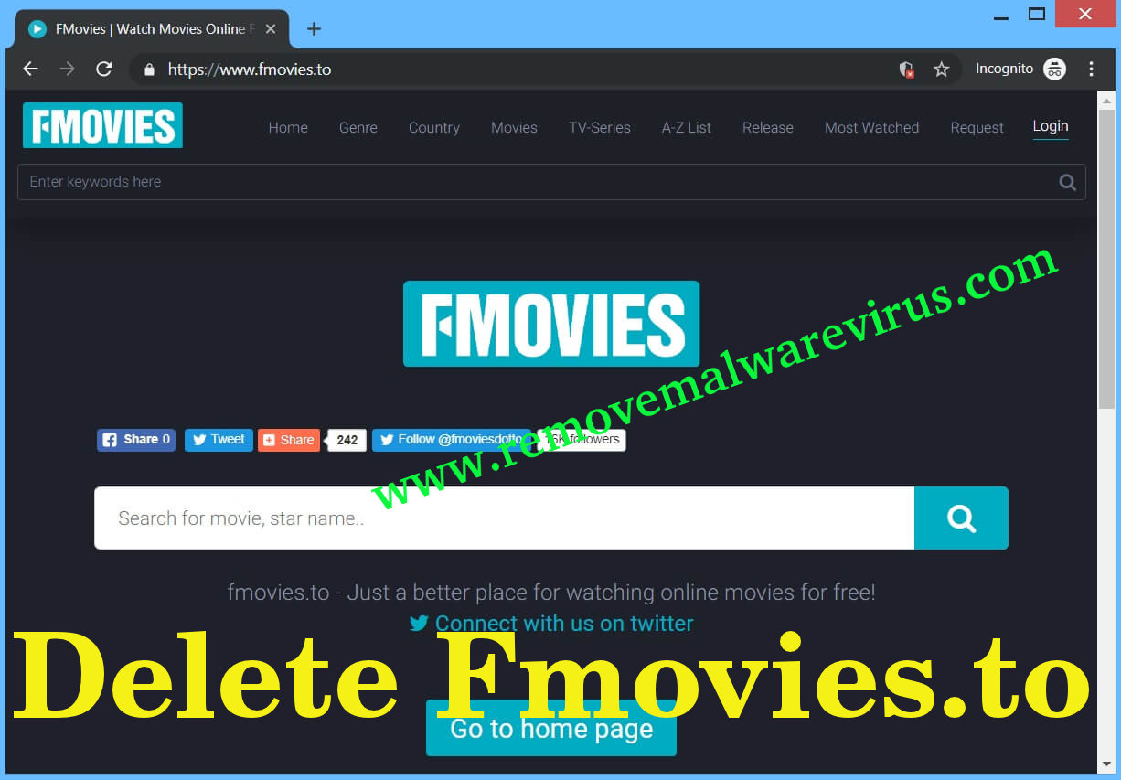Delete Fmovies.to