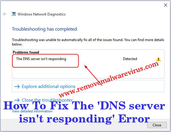 Fix The DNS server is not responding Error
