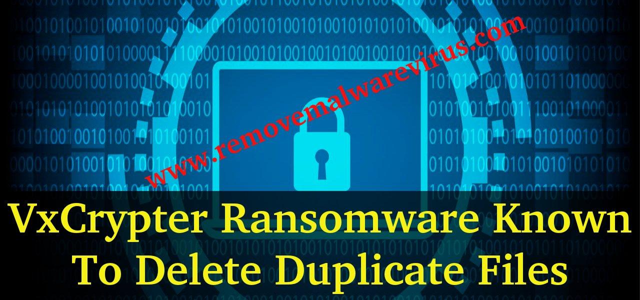 Delete VxCrypter Ransomware