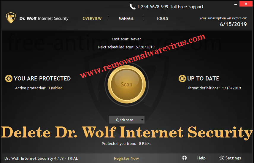 Supprimer Dr. Wolf Internet Security