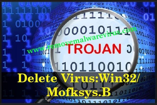 Eliminar Virus: Win32 / Mofksys.B