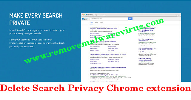 Excluir extensão do Search Privacy Chrome