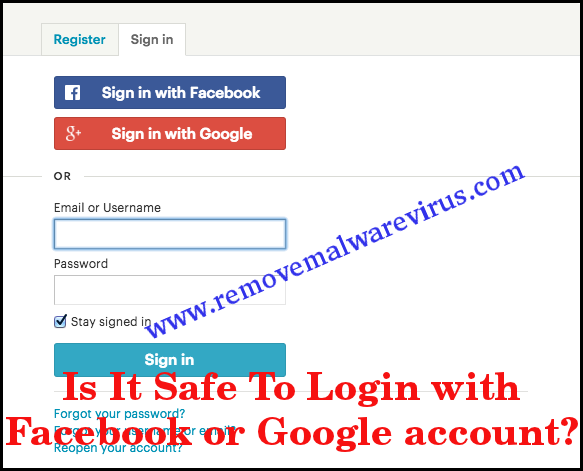 Is It Safe To Login with Facebook or Google account