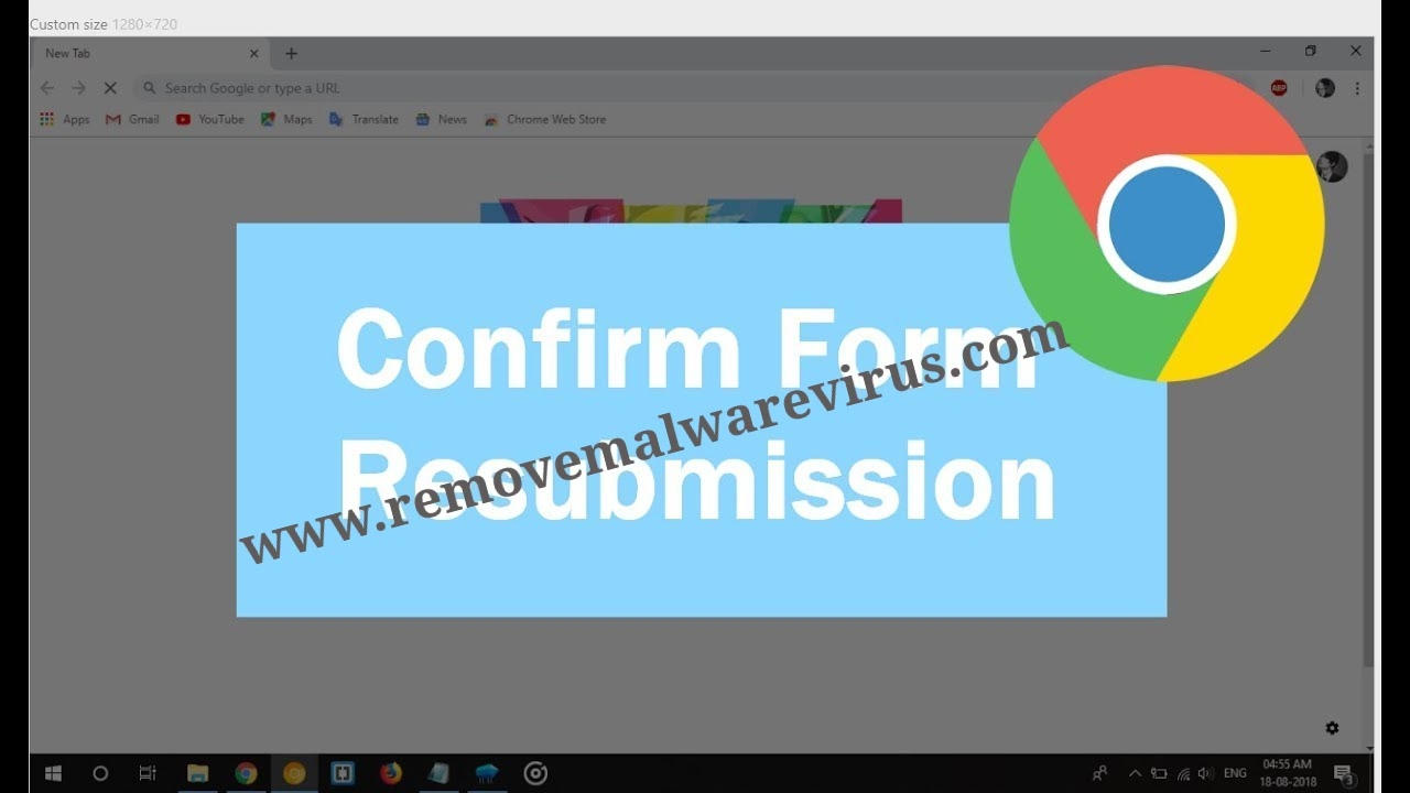 How To Disable Confirm Form Resubmission Popup On Chrome?