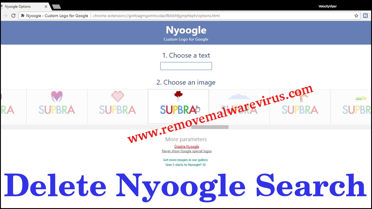 Delete Nyoogle Search