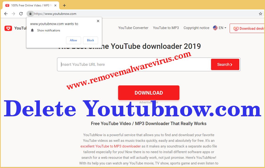 Löschen Sie Youtubnow.com