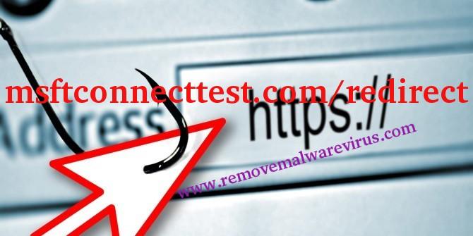 Delete msftconnecttest.com/redirect