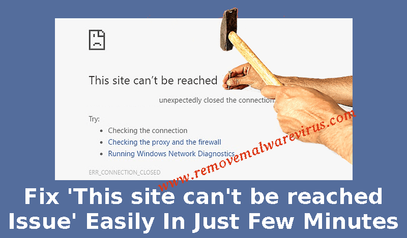 Fix This site cannot be reached Issue Easily