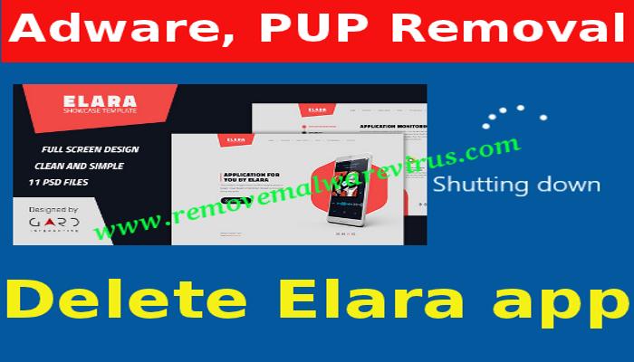 Eliminar la aplicación Elara