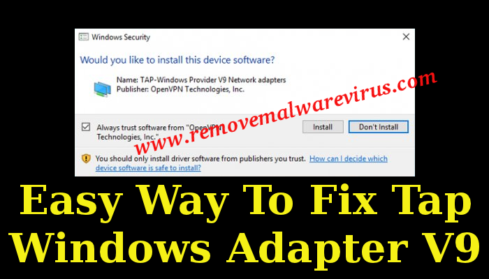 fix Tap Windows Adapter V9