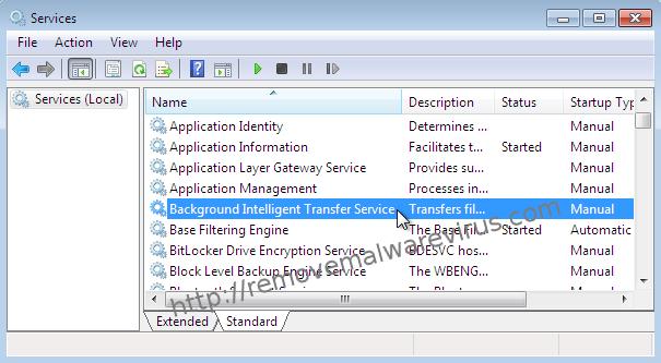 Background Intelligent Transfer Service services windows 7 Best Solution To Resolve Windows update error 0x80070020